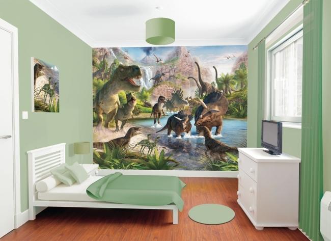 Fototapeta 3d na cian dla dzieci dinozaury fototapety for Ben 10 bedroom ideas